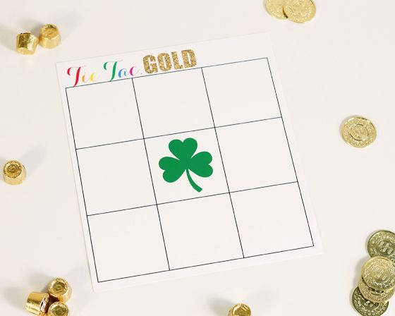 Tic-Tac-Gold - fun St. Patrick's Day game for the kids! #kids #stpatty