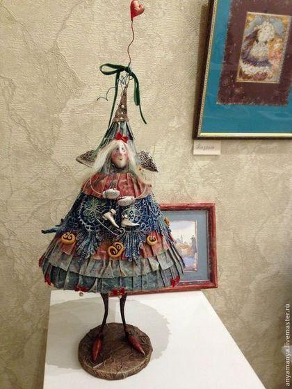 новогодняя елка из папье-маше своими руками
