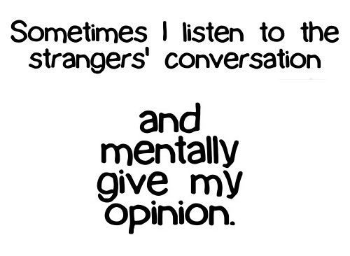 I Mentally give my Opinion