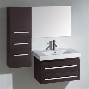 Virtu USA Antonio 28quot; Single Bathroom Vanity Set  Espresso Very