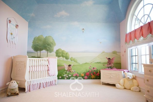 What a beautiful, whimsical nursery (designed by @Shalena Smith} featuring a garden fairy mural! #nursery