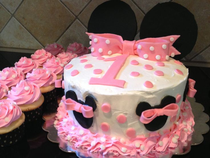 first birthday cakes minnie mouse