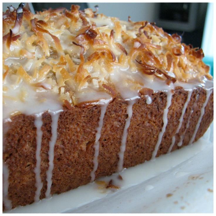 Coconut Banana Bread w/citrus glaze | RECIPES - BREAD | Pinterest