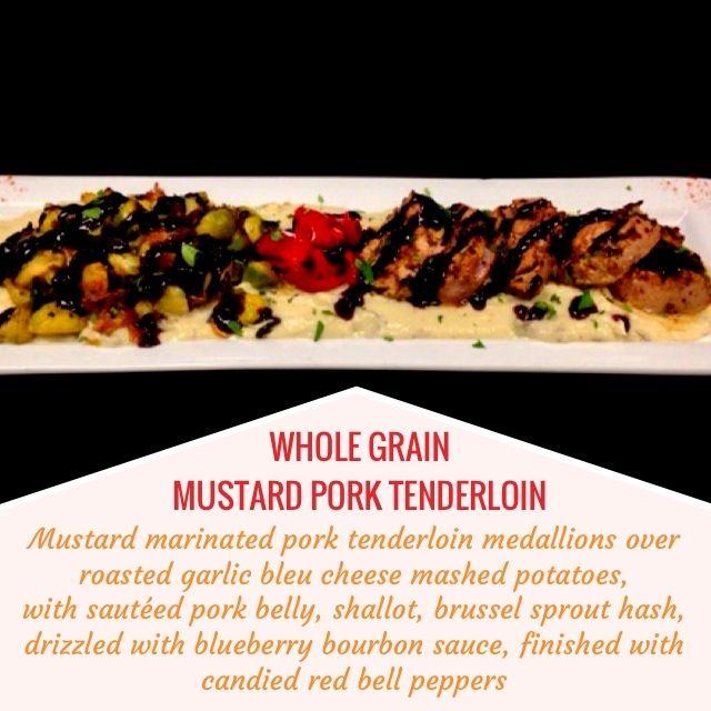 GRAIN MUSTARD PORK TENDERLOIN -- Mustard marinated pork tenderloin ...