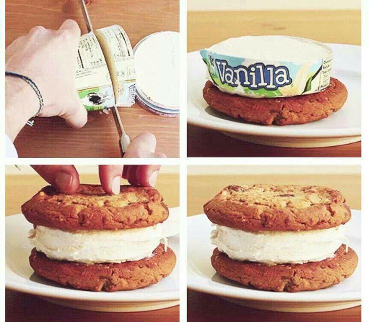 Ice cream sandwich | Foood nomnomonom | Pinterest