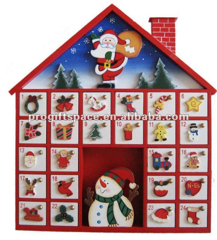 Pin by elena bordando on calendario aviento ideas - Calendario adviento madera ...