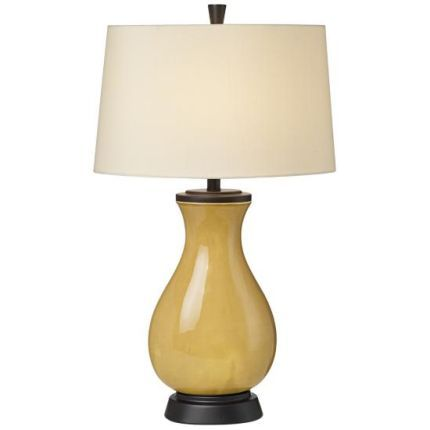 mustard yellow ceramic table lamp dream home decorating. Black Bedroom Furniture Sets. Home Design Ideas