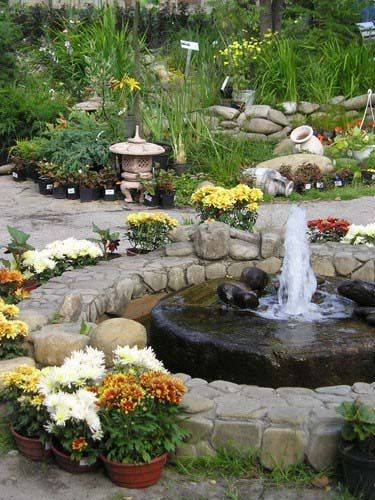 Water fountains front yard and backyard designs for Feng shui landscape design
