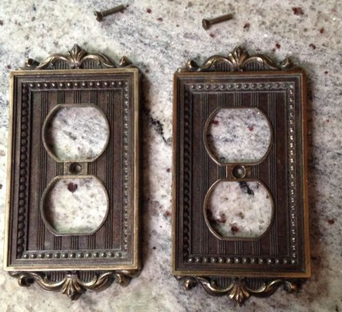 Decorative Wall Outlet Plates : Lot of decorative brass outlet cover metal switch wall plate