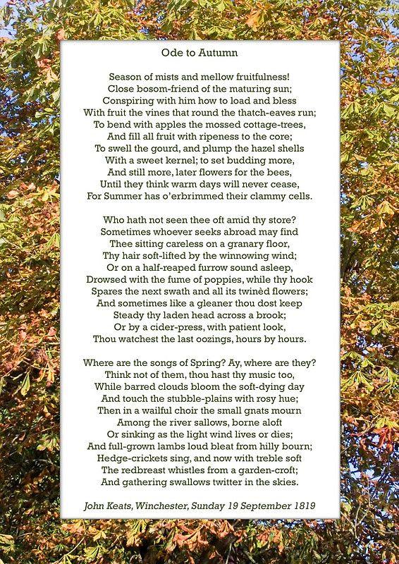 john keats ode to autumn essay