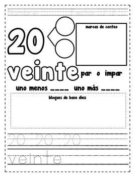 Spanish number practice 0 20