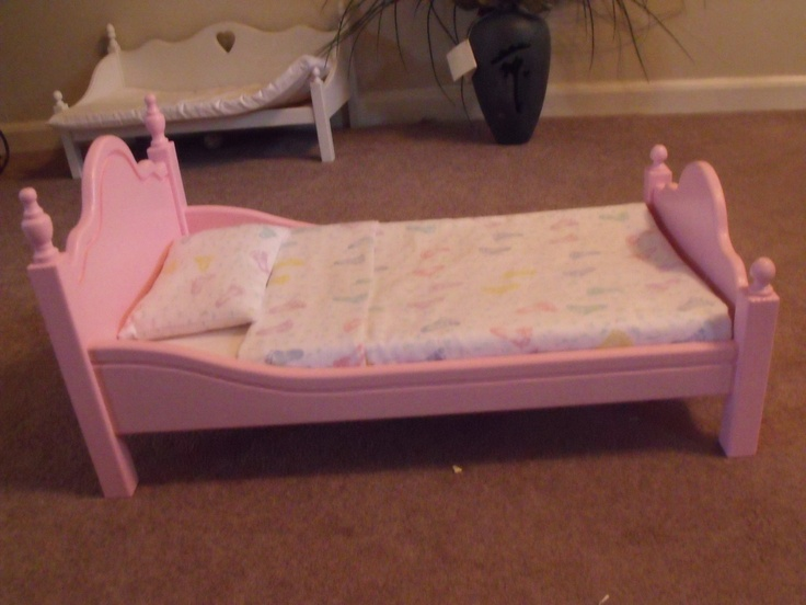 Wooden Doll Bed Brand New 21 By 12 Great For 18 Inch Doll