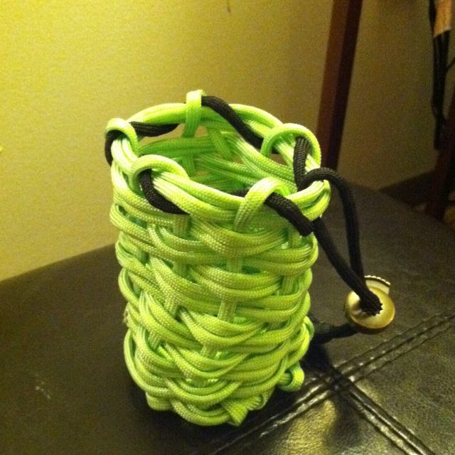Paracord pouch paracord pinterest for How to make a paracord bag