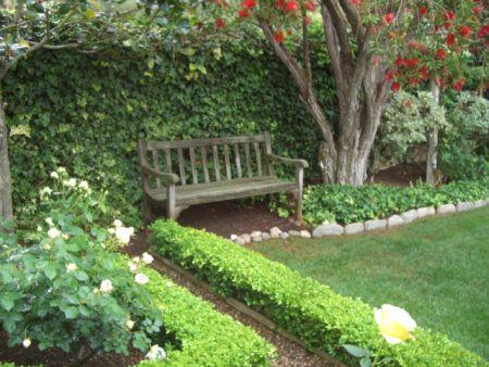 Smith & Hawken teak bench | Gardening | Pinterest
