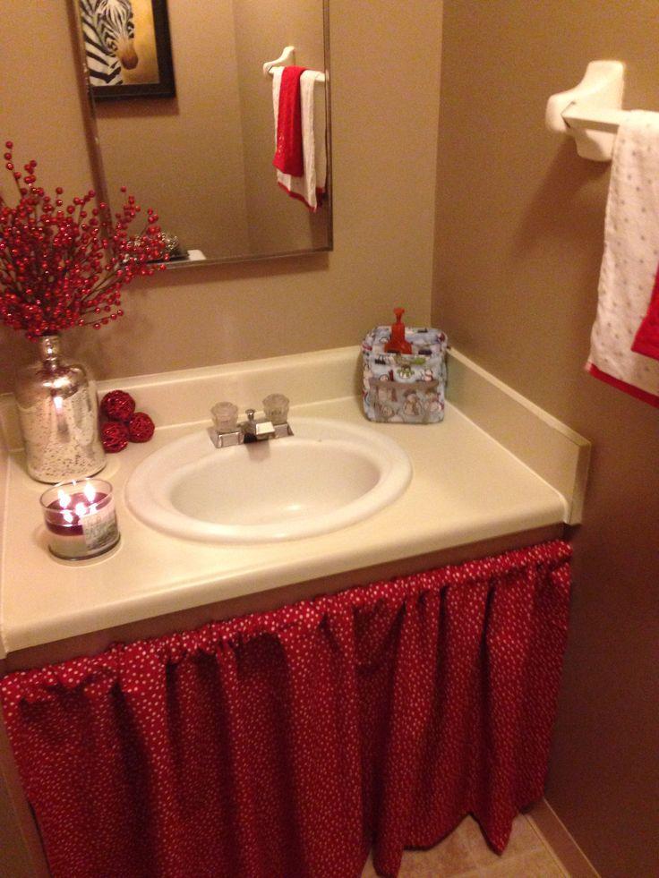 Diy bathroom sink skirt crafts and ideas pinterest - Diy kitchen sink ...