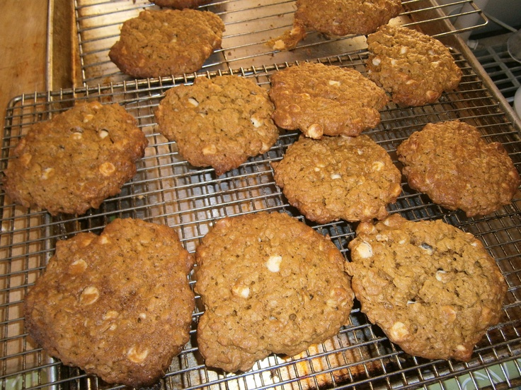 Oatmeal, roasted sunflower seed butter & white chocolate chip cookies ...