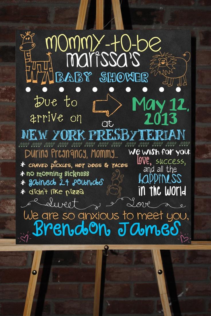 Custom Printable Baby Shower Board Poster. $35.00, via Etsy.
