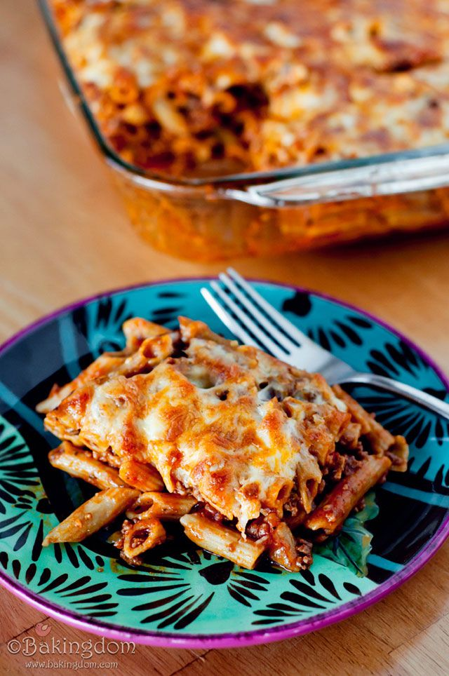 Recipe for Easy Pepperoni Pizza Pasta Bake