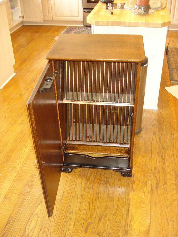 Vinage Lp Album Storage Cabinet