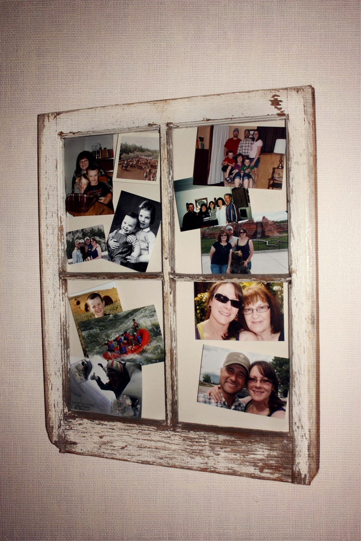 Cute idea using an old window craft ideas for the home for Craft projects using old windows