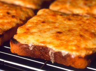 Cheese on Toast A classic breakfast/snack recipe.