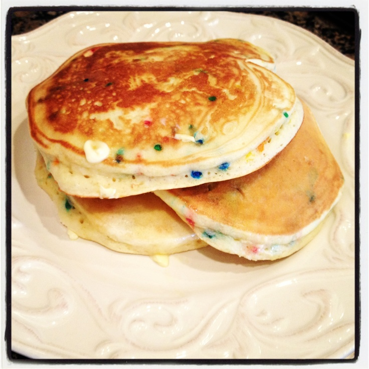 Cake batter pancakes! Delicious! | PinMY-OWNterest | Pinterest
