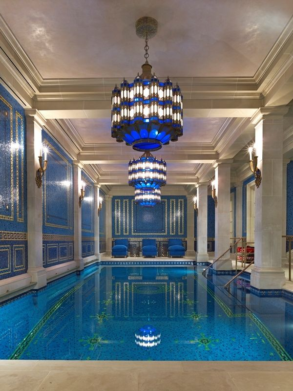 beautiful art deco style indoor pool dream home pinterest. Black Bedroom Furniture Sets. Home Design Ideas