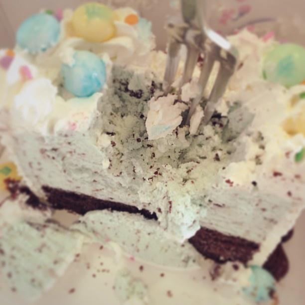 chip cookie ice cream cake mint chocolate chip ice cream cake recipe ...