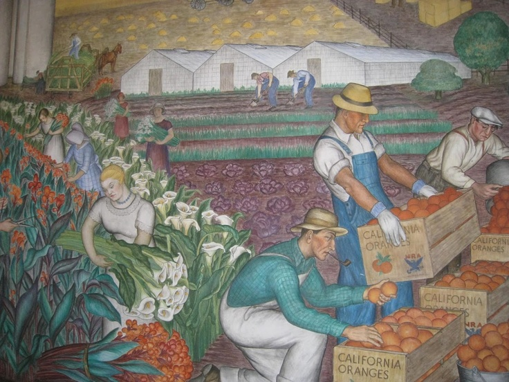 Coit tower wpa murals san francisco favorite places for Coit tower mural