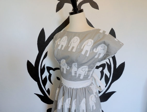 The Flying Elephant Dress Elephants Fun Whimsical by PassionPeach, $52 ...