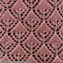 Diamond Lace Knitting Stitches : Smiling Diamonds Knitting stitches Pinterest