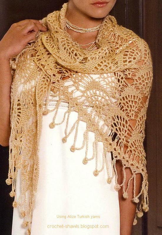 Crocheting Shawls : Crochet Shawls: Shawl - A Gorgeous Lace Crochet Shawl