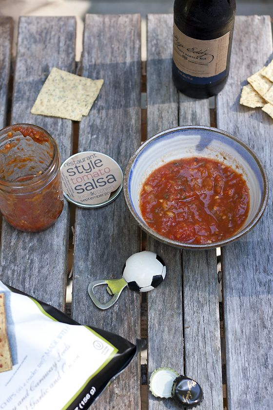 restaurant-salsa & roasted canned tomatoes!