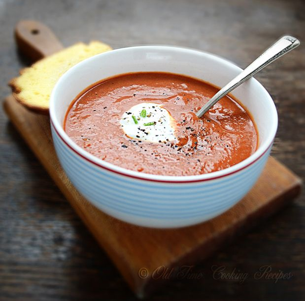 Creamy Tomato Soup- can replace water w/ chicken stock