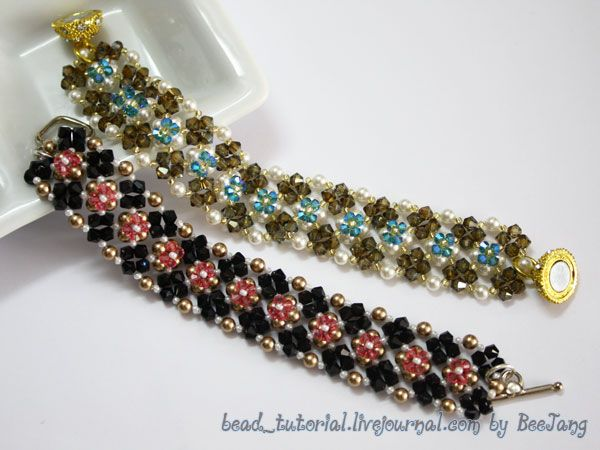 Free Beaded Bracelet Tutorial