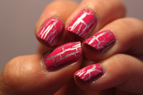 pink & silver shatter