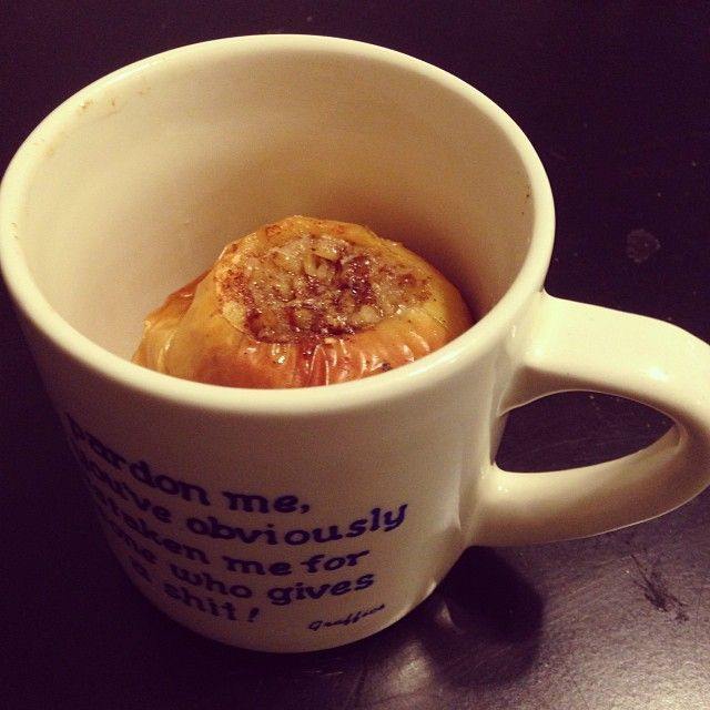 Baked apple with oatmeal and brown sugar from @Nancy Golly