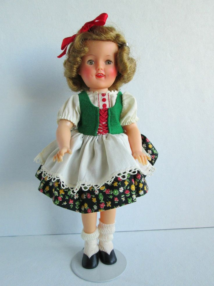 Vintage Shirley Temple 12 quot  Vinyl Doll Wearing Movie Classics Heidi    Shirley Temple Heidi Doll