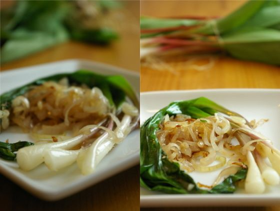 Ramps in shallot butter | It's Good and Healthy. | Pinterest