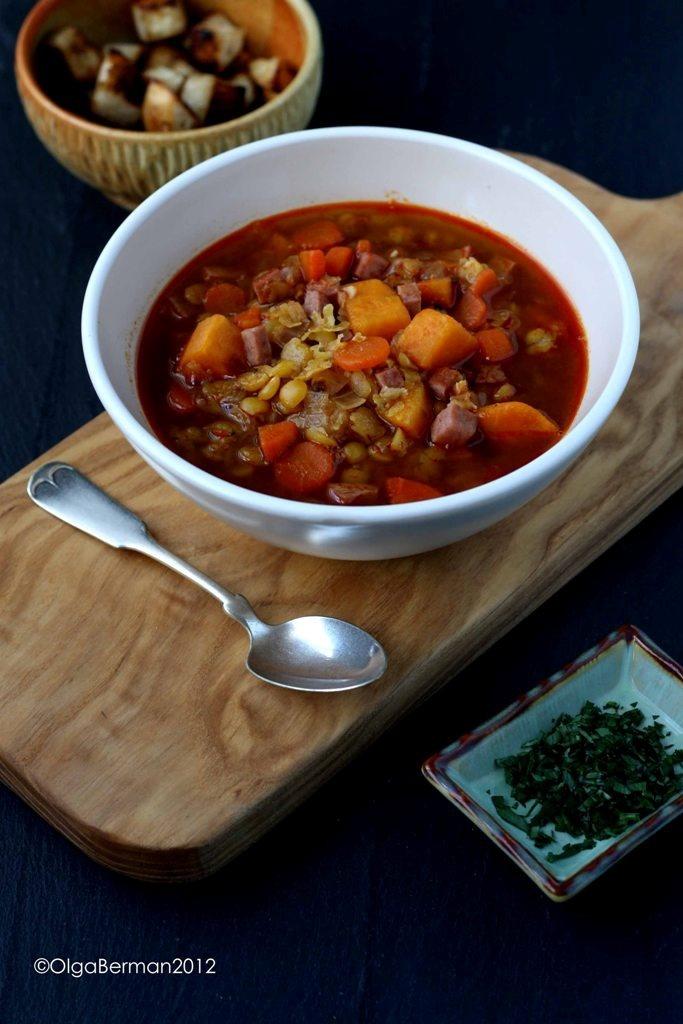 Mango & Tomato: Smoky Split Pea and Sweet Potato Soup with Turkey ...