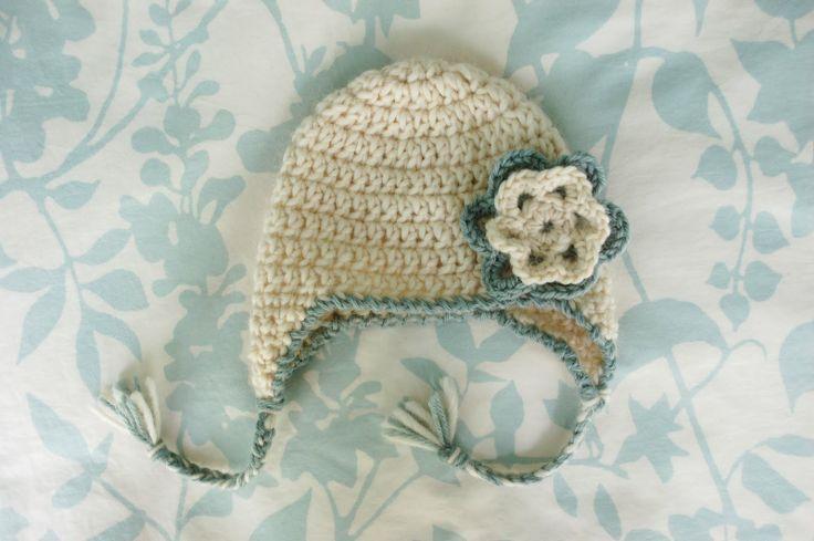 Free Pattern: Baby Earflap Hat - Newborn Crochet Pinterest
