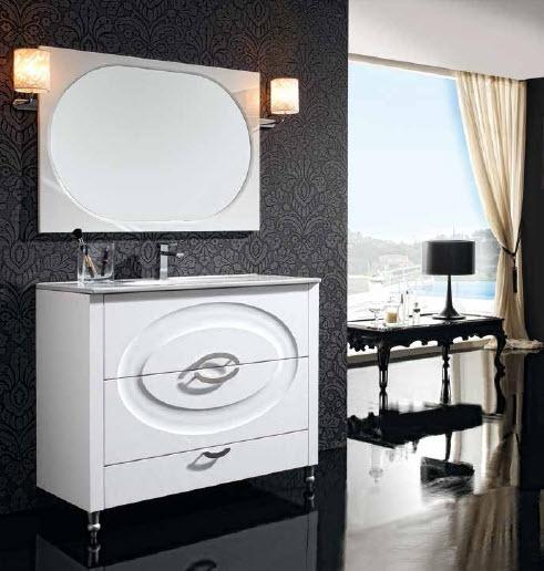 Mueble Baño Gris PerlaMueble de Baño Compuesto de 3 cajones blanco