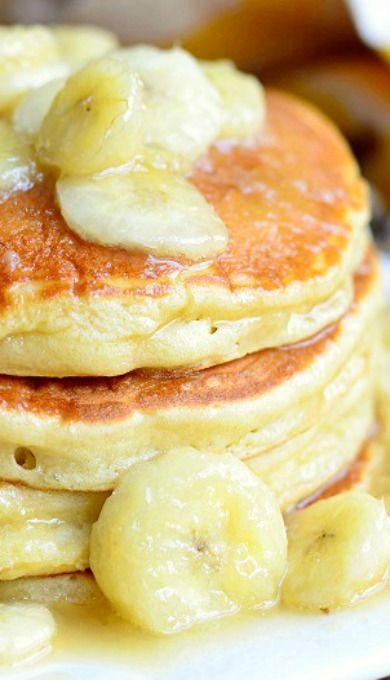 Bananas Foster Pancakes | Good Morning Sunshine! | Pinterest