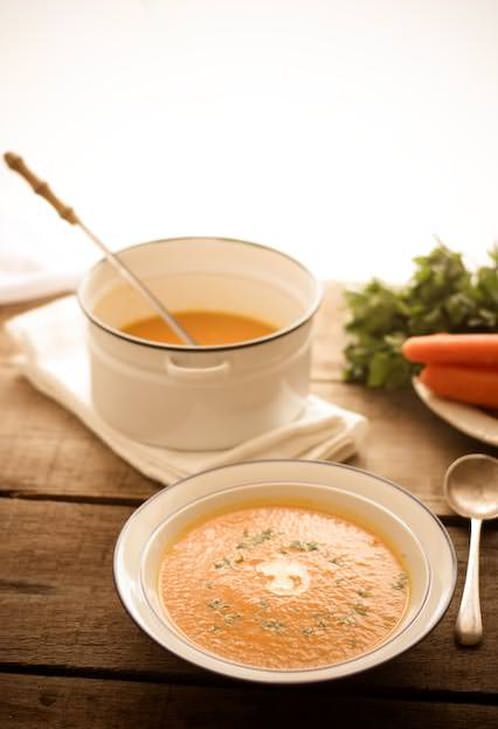 Roasted Carrot Soup with Ginger | Yummi Recipes | Pinterest