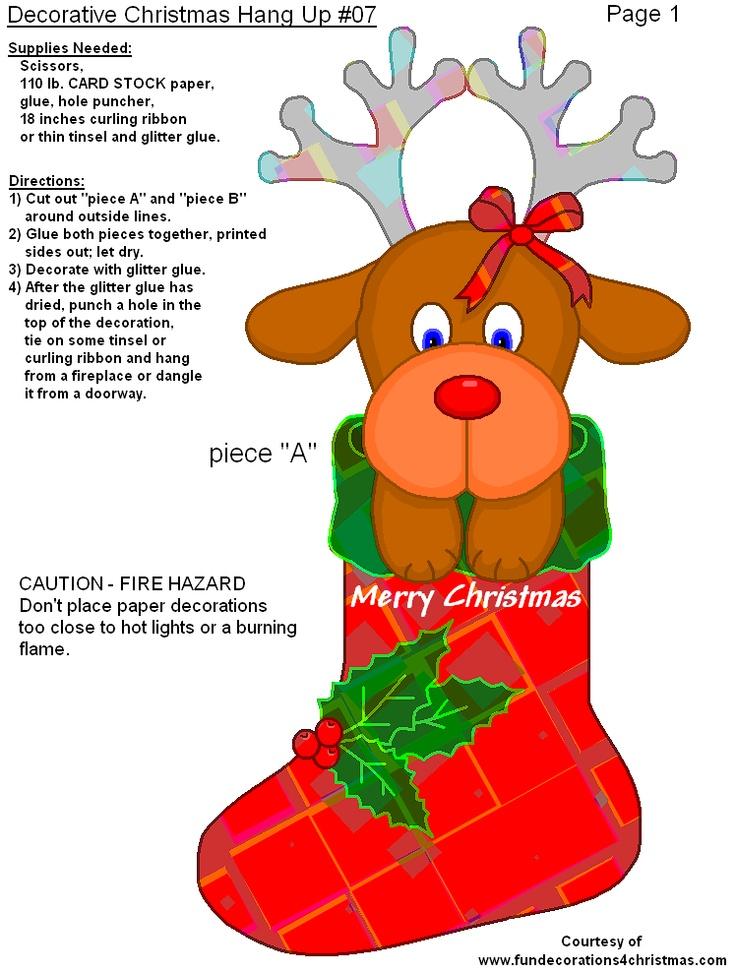 FREE Printable Decorative Christmas Hang Ups - great for parents, kids ...