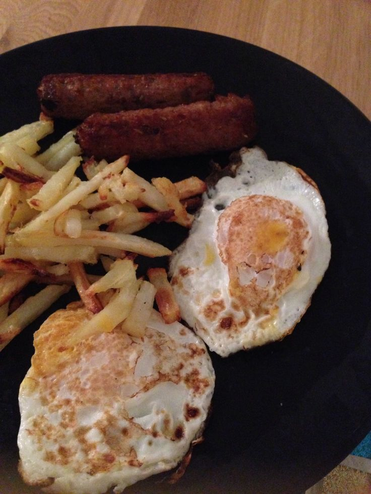 ... fry light and cooked in the oven with a fried egg and rosemary and