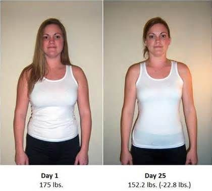Hcg diet results in 25 days hcg diet before and after results p