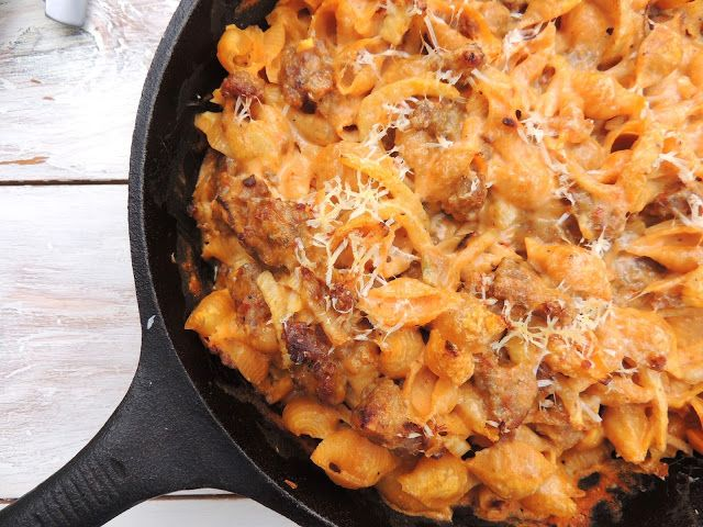 Creamy Baked Pasta with Sausage, Fennel and Pumpkin; leave a happy ...