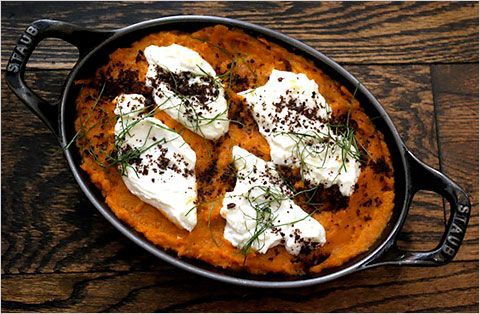 ... Temporary Vegetarian: Sweet Potato and Goat Cheese Gratin With Bl