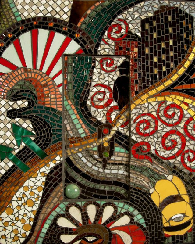 Mosaic mosaic art pinterest for Drawing mosaic pictures